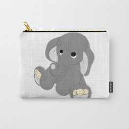 Stuffed Elephant Carry-All Pouch