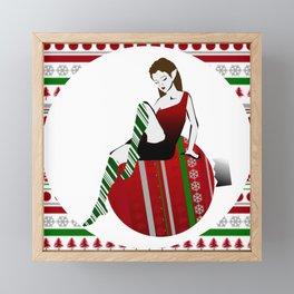 Christmas Elf Framed Mini Art Print