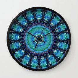 Jewel Of The Ocean Mandala Wall Clock