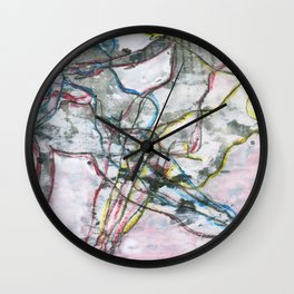 Nude Repeated Descending  Wall Clock