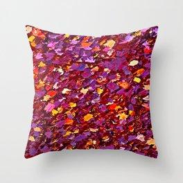 Forest Floor in Autumn Throw Pillow