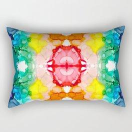 Rainbow Rorschach II Abstract Design Rectangular Pillow
