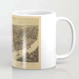 Aerial View of Duquesne, Allegheny County, Pennsylvania (1897) Coffee Mug