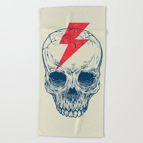 Skull Bolt Beach Towel