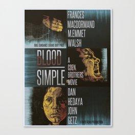 Blood Simple Canvas Print