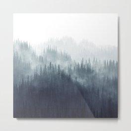 Forest Haze Metal Print