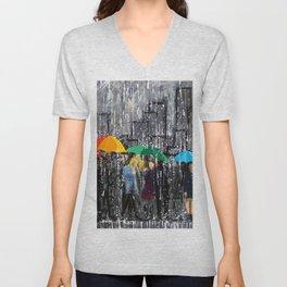 Rainy Day Reflecting Unisex V-Neck
