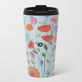 """""""Garden Whimsy"""" Metal Travel Mug"""