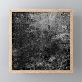 Grunge Gray Framed Mini Art Print