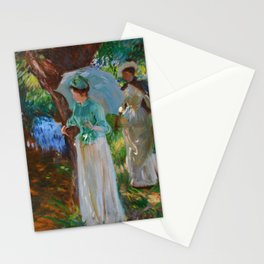 """John Singer Sargent """"Two Girls with Parasols at Fladbury"""" Stationery Cards"""
