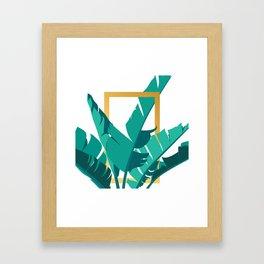 Tropical leafs Framed Art Print