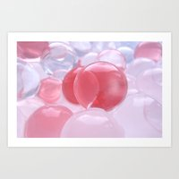 bubbles Art Prints featuring Bubbles by Tanja Riedel