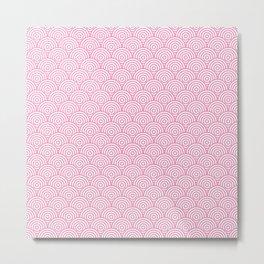Light Pink Concentric Circle Pattern Metal Print