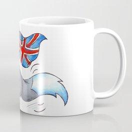 Flag Flying Wolf (UK) Coffee Mug