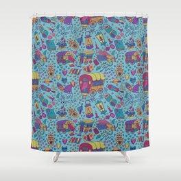 Caravan Pattern Shower Curtain