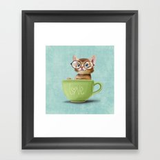 Kitten with glasses Framed Art Print