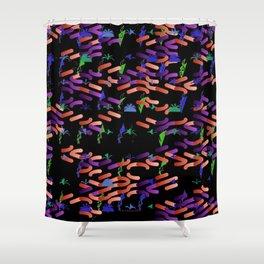 Glowworms Shower Curtain
