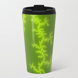 Green Fractal Travel Mug
