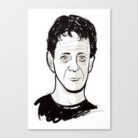 lou reed Canvas Prints featuring Lou Reed by BTillustration