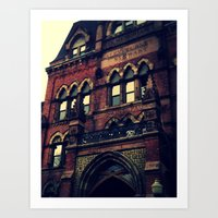 gothic Art Prints featuring Gothic by Valentines
