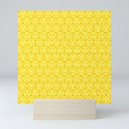 d20 Icosahedron Honeycomb Mini Art Print