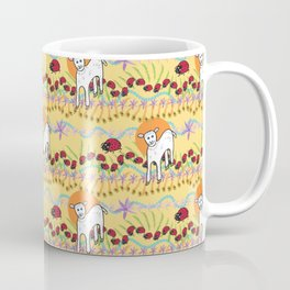 © Little Lamb with ladybugs pattern Coffee Mug