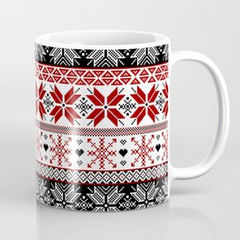 Winter Fair Isle Pattern Coffee Mug