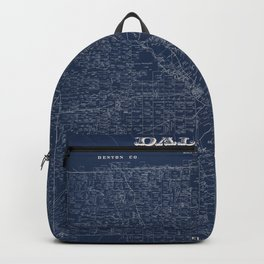 Map Of Dallas 1884 Backpack