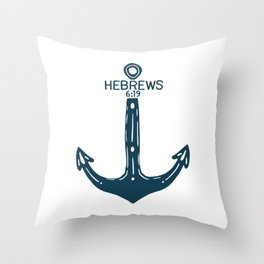 Hebrews Anchor Throw Pillow