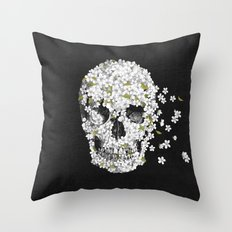 A Beautiful Death - mono Throw Pillow