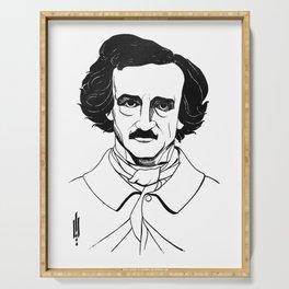 Edgar Allan Poe by Aubrey Beardsley 1926 Serving Tray