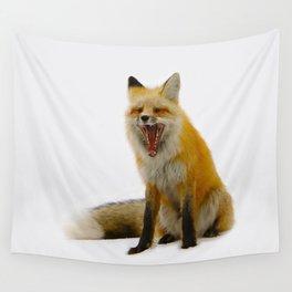 Yawning Fox Wall Tapestry