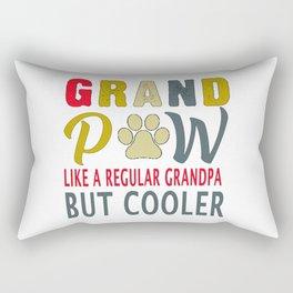 grandpaw like a regular grandpa cooler T-Shirt Rectangular Pillow