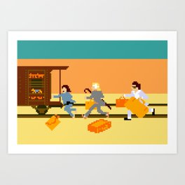 How Can A Train Be Lost? Art Print