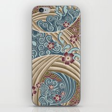 Waves of tradition-olive iPhone & iPod Skin