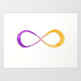 infinite (purple/yellow) Art Print