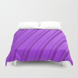 Stripes II - mauve Duvet Cover