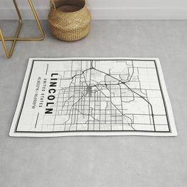 Lincoln Light City Map Rug