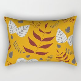 Autumn leafs and acorns Rectangular Pillow