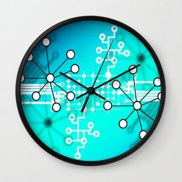 Abstract Molecules Wall Clock