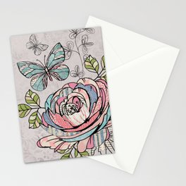 Paper Flowers #2 Stationery Cards