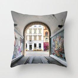 Streetart Throw Pillow