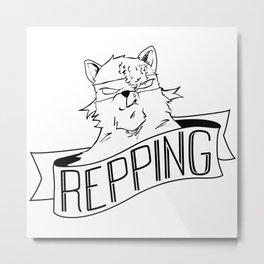 Repping Bear Metal Print