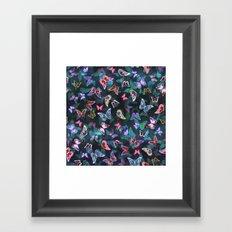 Butterfly  Forest Green Framed Art Print