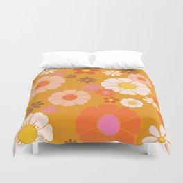 Groovy Mod 60's Flower Power Duvet Cover