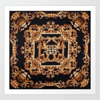 givenchy Art Prints featuring Fancy Givenchy by Goldflakes