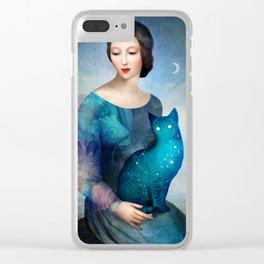 Night Cat Clear iPhone Case