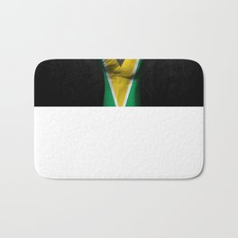Guyanese Flag on a Raised Clenched Fist Bath Mat