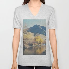 down by the river ... Unisex V-Neck