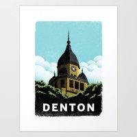 Denton Courthouse  Art Print